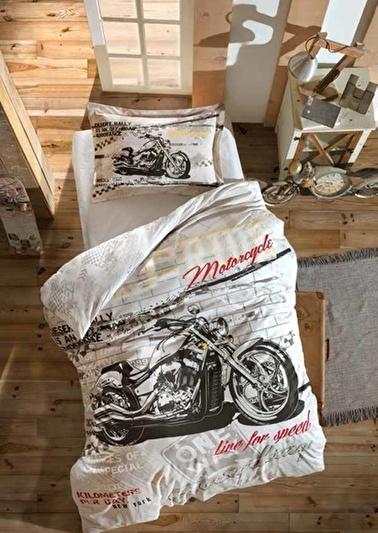 Soley Tek Kişilik Uyku Seti Genç Motocross Renkli